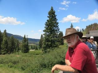 John, enjoying the view from the gondola car