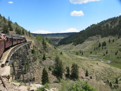 Cascade Trestle, highest bridge at 137 feet above Cascade Creek