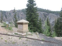 Garfield Monument, erected by railroad ticket agents dedicated to the memory of President James A. Garfield after his assassination in 1881.
