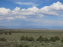 rain in the distance... landscape changing from pinon-juniper to mostly sagebrush