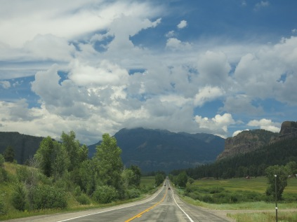 We can head out in any direction and it's beautiful country... we are on Hwy 160 E heading to Wolf Creek Pass.