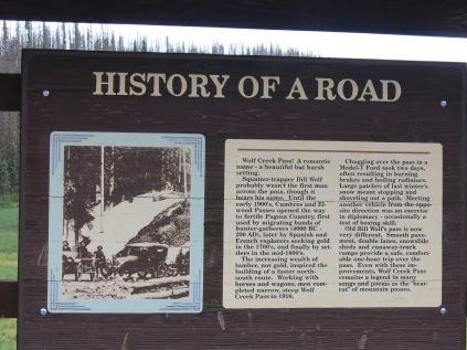 history of the road through Wolf Creek Pass...