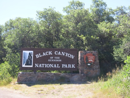 official entrance sign - Black Canyon was made a National Park in 1999