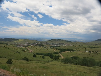 looking down at town of Cripple Creek