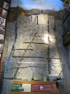 Mollie Kathleen Mine (two story high model) - The vertical shaft gold mine descends 1,000 feet down into the mountain