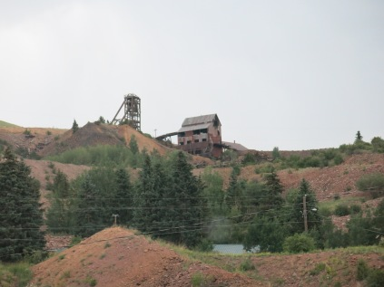old mine on ridge after leaving Victor, CO