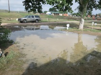 this morning, the water level went down near our site.