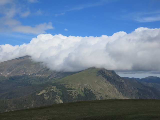 Alpine Visitor Center overlook - a long line of clouds ...