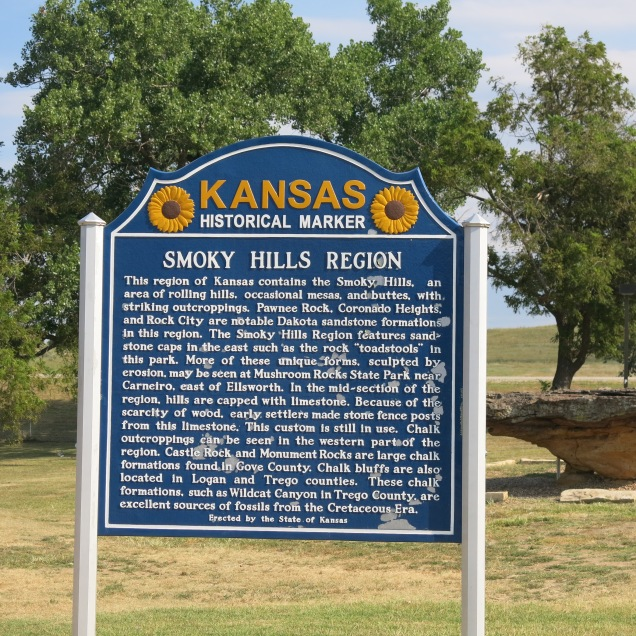 I love the Kansas historical marker design...