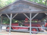 """old on-site fire brigade and truck - """"Jack Daniels Engine Co. no. 1"""