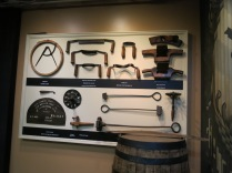 tools used to shave and smooth the oak barrels