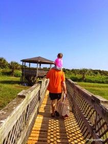 Eliza gets a lift from Grandpa AJ