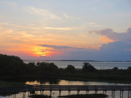 sunset from the deck..