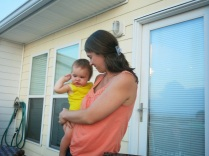 Kim with June (1 year)