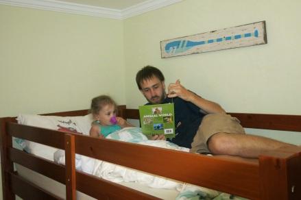 Johnny reading to Eliza