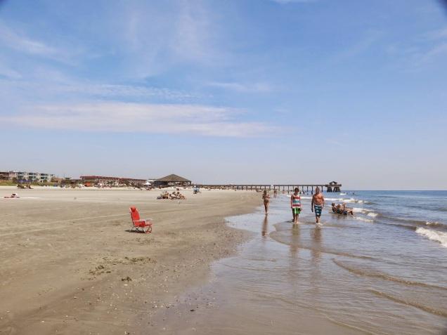 fairly deserted beach