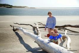 Fun on the sandbar.