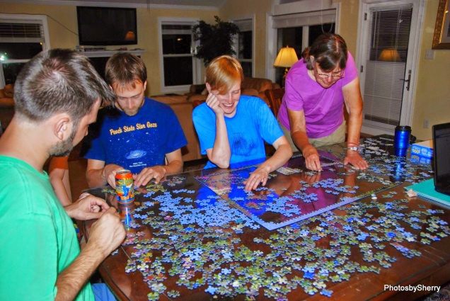 lighthouse and flowers puzzle
