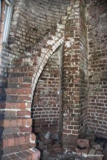 Inside the lighthouse.