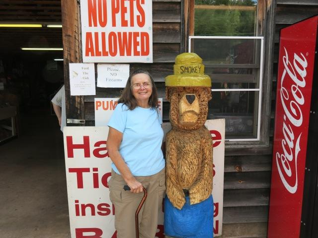 I posed with Smokey Bear on the way to the truck.