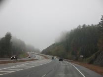 Hwy 441 North - rain and fog