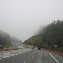 Hwy 441 North - rain and fog