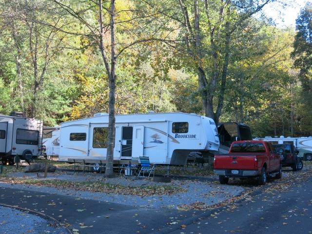 Our Campsite - Twin Creek RV Park