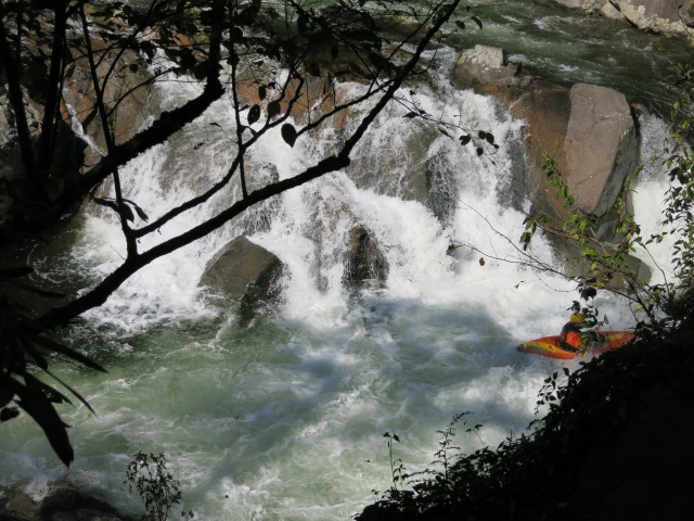 Kayaker at the Sinks, Great Smokies