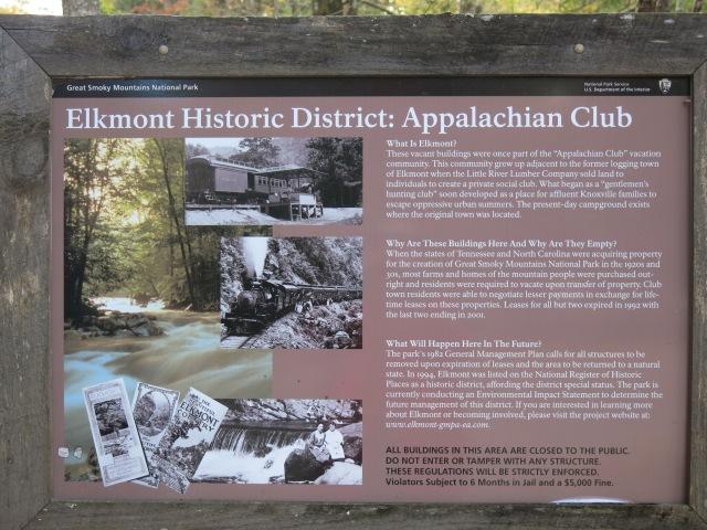 info Elkmont Historic District