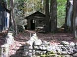Children's Playhouse, known as Adamless Eden, was built in 1921 and is situated on the Addicks Cabin property in the Daisy Town section of Elkmont Historic District