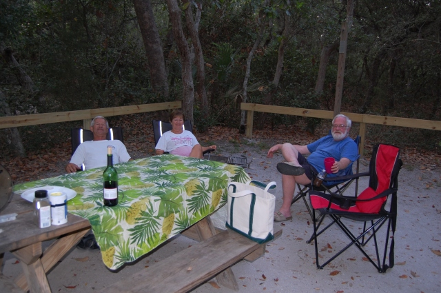 John & Sherry Crowell, and John Ritger, Anastasia State Park, 5/23/11