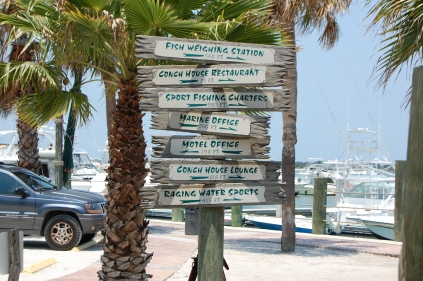 heading to the Conch House Restaurant...