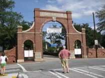 entrance to Oakland Cemetery in Atlanta